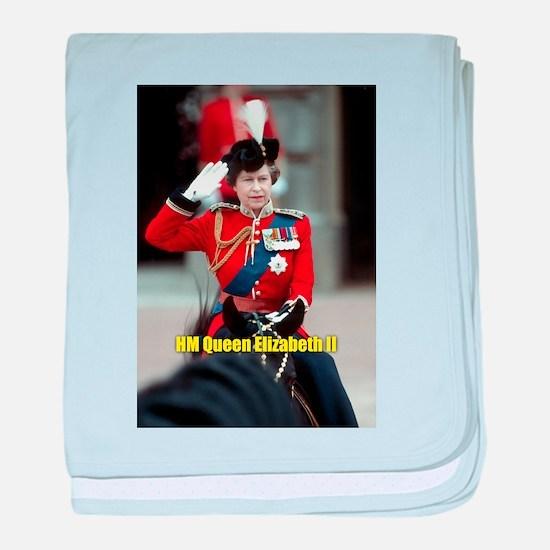 The Queen - HM Queen Elizabeth II baby blanket