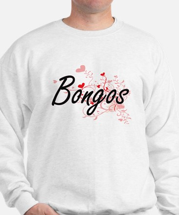 Bongos Heart Design Jumper