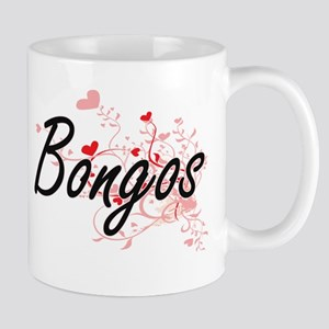 Bongos Heart Design Mugs