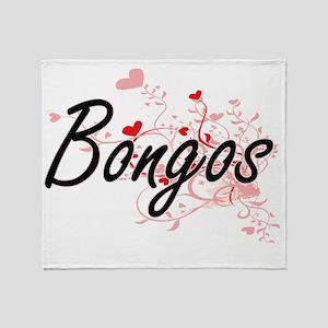 Bongos Heart Design Throw Blanket