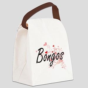 Bongos Heart Design Canvas Lunch Bag