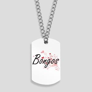 Bongos Heart Design Dog Tags