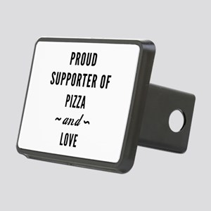 Pizza And Love Rectangular Hitch Cover