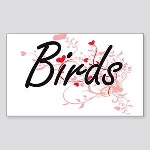 Birds Heart Design Sticker