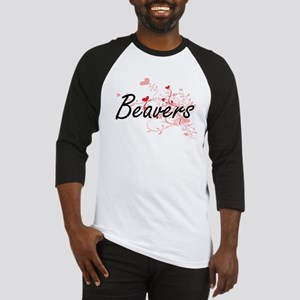Beavers Heart Design Baseball Jersey