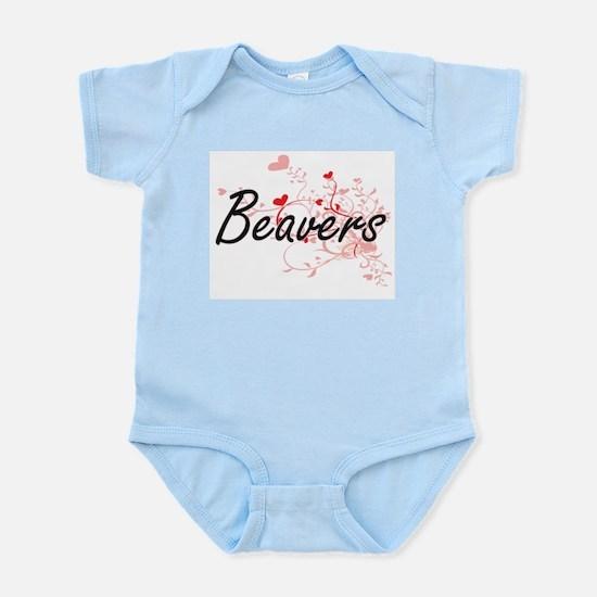 Beavers Heart Design Body Suit