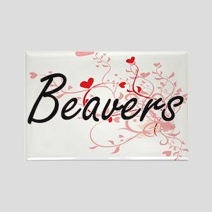Beavers Heart Design Magnets