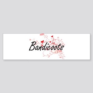Bandicoots Heart Design Bumper Sticker