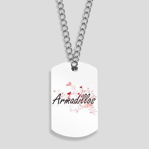 Armadillos Heart Design Dog Tags