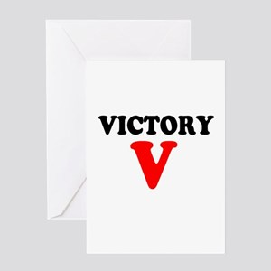 VICTORY V - Greeting Cards