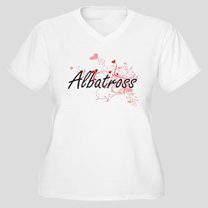 Albatross Heart Design Plus Size T-Shirt