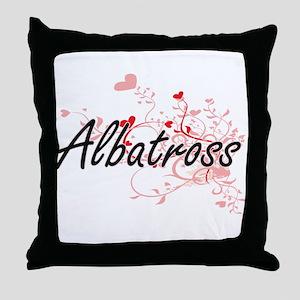 Albatross Heart Design Throw Pillow