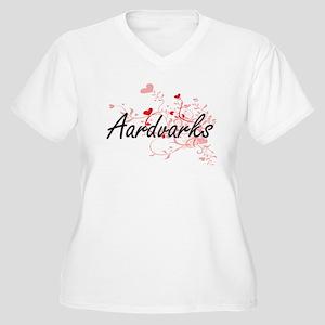 Aardvarks Heart Design Plus Size T-Shirt