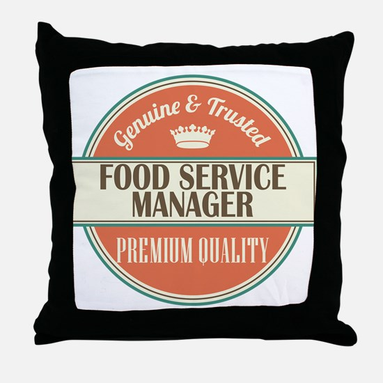 food service manager vintage logo Throw Pillow