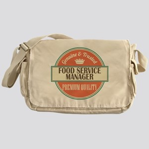 food service manager vintage logo Messenger Bag