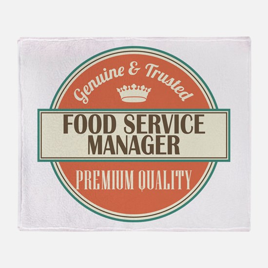 food service manager vintage logo Throw Blanket