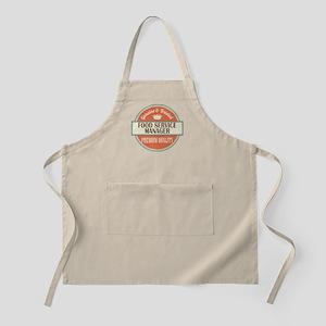 food service manager vintage logo Apron