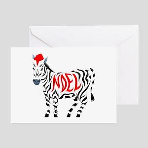 Christmas Noel Zebra Greeting Cards