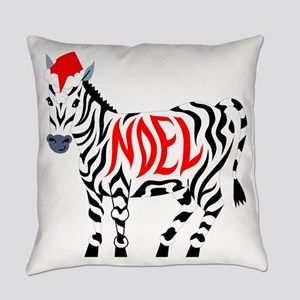Christmas Noel Zebra Everyday Pillow