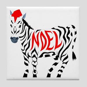 Christmas Noel Zebra Tile Coaster