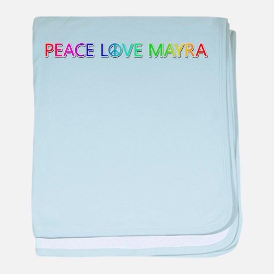 Peace Love Mayra baby blanket