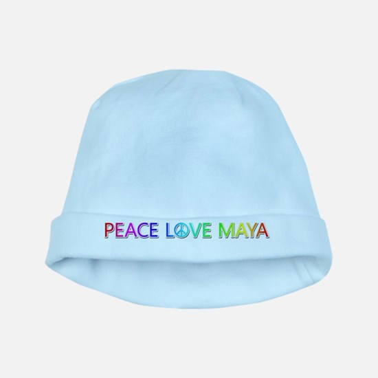 Peace Love Maya baby hat