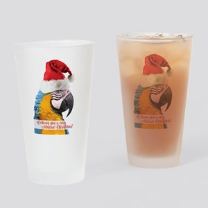 Wishing You a very Macaw Christmas Drinking Glass