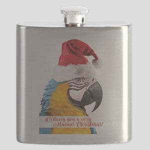 Wishing You a very Macaw Christmas Flask