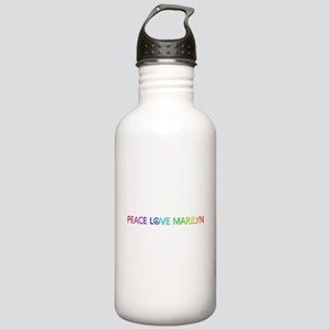 Peace Love Marilyn Water Bottle