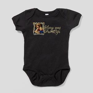 Mary was Pro-Life (Black) Baby Bodysuit