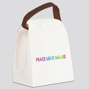 Peace Love Mamie Canvas Lunch Bag