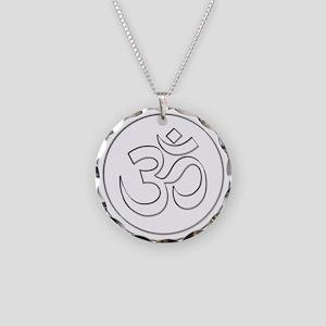 Namaste Om Shanti Necklace Circle Charm