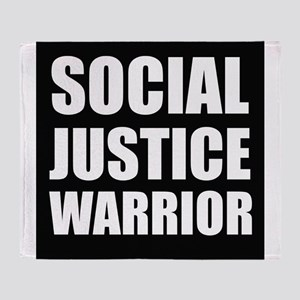 Social Justice Warrior Throw Blanket