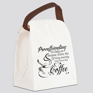 Procaffeinating Black Canvas Lunch Bag