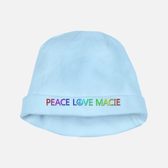 Peace Love Macie baby hat