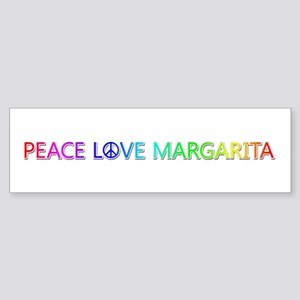 Peace Love Margarita Bumper Sticker