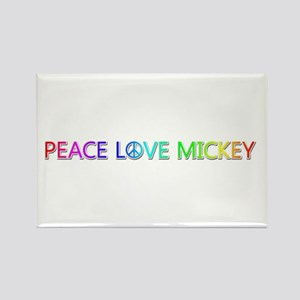 Peace Love Mickey Rectangle Magnet