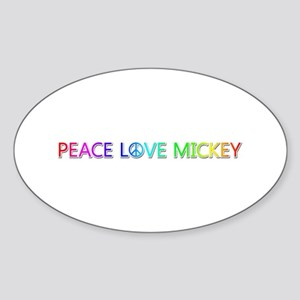 Peace Love Mickey Oval Sticker