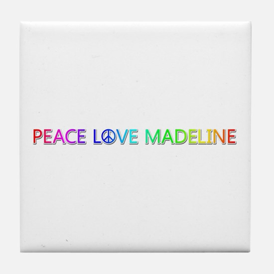 Peace Love Madeline Tile Coaster
