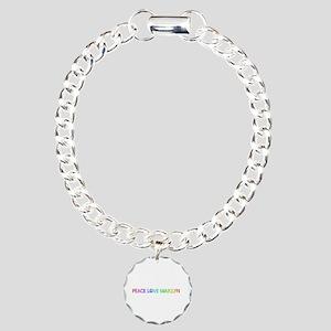 Peace Love Marilyn Charm Bracelet