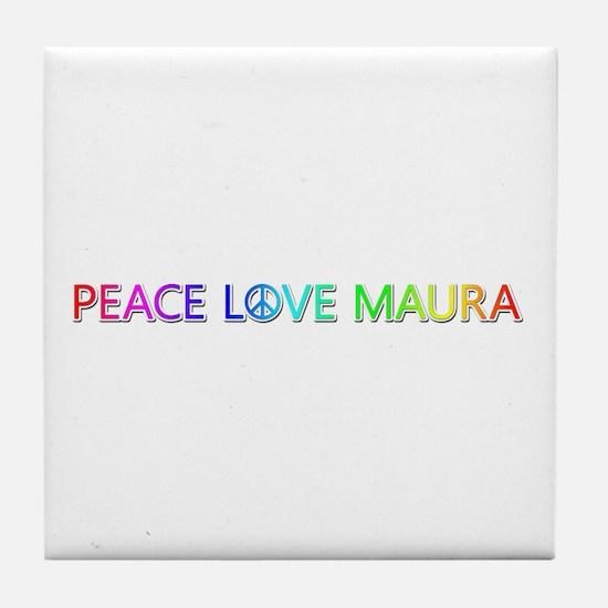Peace Love Maura Tile Coaster