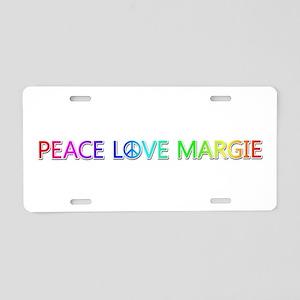 Peace Love Margie Aluminum License Plate