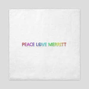 Peace Love Merritt Queen Duvet