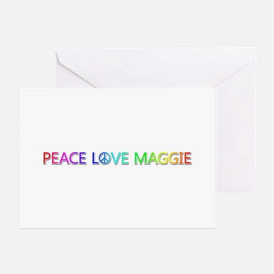 Peace Love Maggie Greeting Card