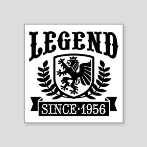 "Legend Since 1956 Square Sticker 3"" x 3"""
