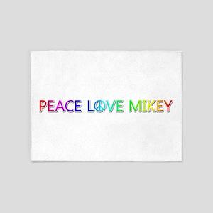 Peace Love Mikey 5'x7' Area Rug
