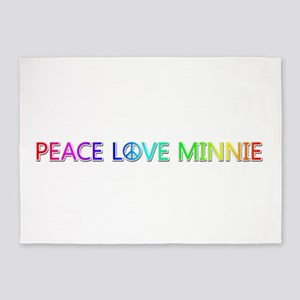 Peace Love Minnie 5'x7' Area Rug