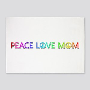 Peace Love Mom 5'x7' Area Rug