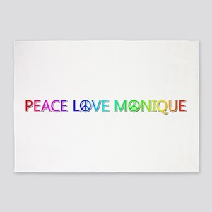 Peace Love Monique 5'x7' Area Rug