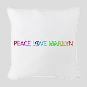 Peace Love Marilyn Woven Throw Pillow